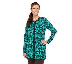 isaac mizrahi live damask jacquard sweater coat page 1 u2014 qvc com