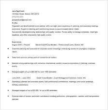 Wedding Resume Format Event Planner Resume Template U2013 9 Free Word Excel Pdf Format