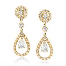 gold and diamond earrings designer diamond earrings ladieswomens 18k white gold diamond