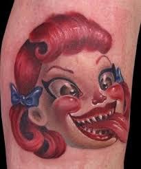 10 creepy clown tattoos tattoo com