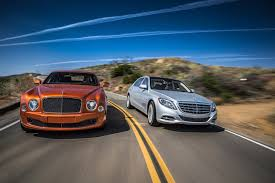 blue bentley 2016 2016 bentley mulsanne speed vs 2016 mercedes maybach s600 motor