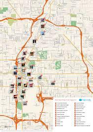 Las Vegas Strip Map Monorail by Printable Las Vegas Map Printable Maps