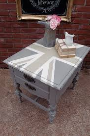 How To Make End Tables by How To Make A Table Taller Brush Strokes And A Union Jack End
