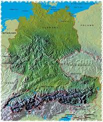 geographical map of germany map archive physical map of germany