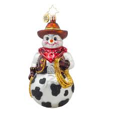 christopher radko ornaments 2015 radko snowy cowboy ornament