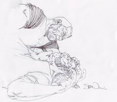 wolverine old man logan rough sketch by steve mcniven in