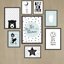 Bedroom Wall Art Sets Wall Art For Kids Black And White Kids Room Wall Art Print Set