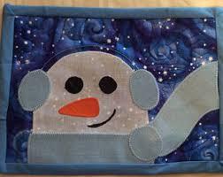 Snowman Rug Snowman Mug Rugs Etsy