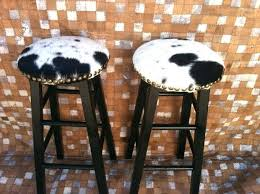 bar chair covers cow hide bar stool amazing black and white cow print bar stools