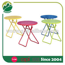 Small Folding Side Table Garden Furniture Cheap Metal Folding Side Round Table Buy Small