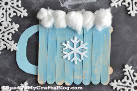 popsicle stick chocolate mug kid craft glued to my crafts