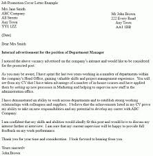 cover letter examples for promotion job promotion cover letter