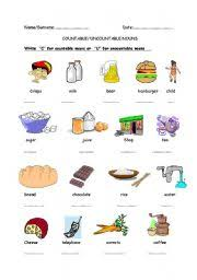 worksheet countable uncountable nouns