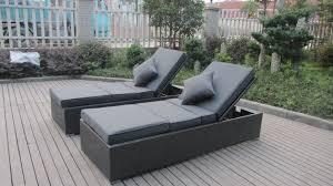 chaise longue ext rieur canapé contemporain de sun de rotin ensemble extérieur de chaise