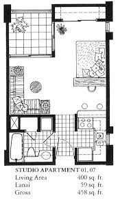 Studio Floor Plans 400 Sq Ft The Twenty One Hundred The Honolulu Hawaii State Condo Guide Com