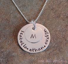Custom Personalized Jewelry Hand Stamped Necklace Sterling Silver Custom Personalized Jewelry
