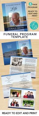 print funeral programs lake printable funeral program ready to edit print simply