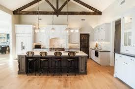 kitchen island farm table lafayette residence farmhouse kitchen kitchens via a blissful nest