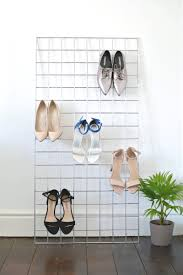 Shoe Home Decor by Diy Grid Shoe Storage Display Storage Display And Store