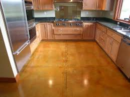 flooring concrete floor and wooden cabinet plus refrigerator