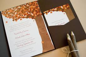 How To Make Your Own Wedding Invitations Fall Themed Wedding Invitations Lilbibby Com