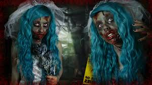 zombie bride halloween makeup tutorial youtube
