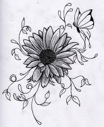 butterfly on sunflower tattoo design all tattoos for men