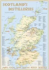 Road Map Of Scotland Scotland U0027s Distilleries Map New 2016 With All Whisky
