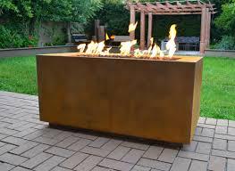 Propane Outdoor Fire Pit Table Corten Steel Propane Fire Pit Table U0026 Reviews Allmodern