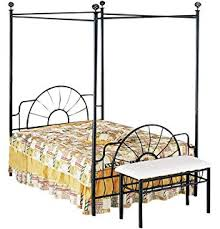 Metal Canopy Bed Amazon Com Full Metal Canopy Bed Kitchen U0026 Dining