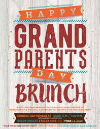 grandparents day brunch flyer poster template misc pinterest