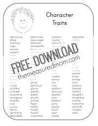 free character analysis worksheet kids measured mom