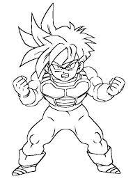 imagenes de goku para dibujar faciles con color dragon ball z imagenes para colorear anime
