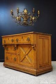 civil war era washstand antique oak buffet server chest of drawers