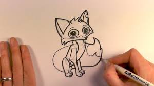 how to draw a cartoon fox from animal jam zooshii style youtube