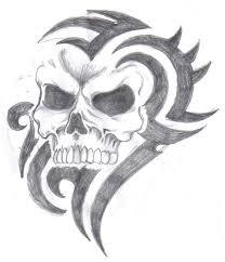 tribal skull by beauch2k on deviantart