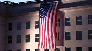 911 Flag Photo Flag Draped From Roof Of Pentagon On 9 11 Anniversary