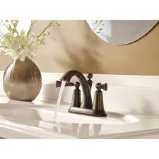 Moen Oil Rubbed Bronze Bathroom Faucet by Moen 4505orb Wynford Oil Rubbed Bronze Two Handle Centerset