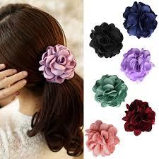 flower bands women elastic rope hair band flower ponytail holder scrunchie