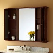 bathroom cabinets open mirror medicine cabinet brown medicine
