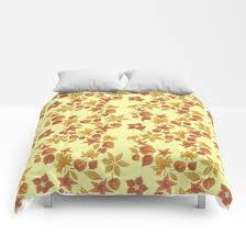 Light Comforters Physalis On Light Yellow Background Comforters Yellow Background