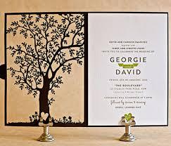 wedding invitation ideas lovely laser cut tree wedding