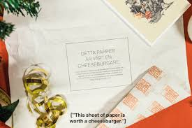 cheeseburger wrapping paper mcdonald s direct advert by ddb gift wrap redeemed for a