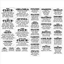 kitchen canister labels kitchen food organization clear gloss labels set of