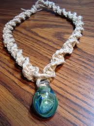 necklace hemp images Hemp necklace with bead a beadwork jewelry making new patterns jpg