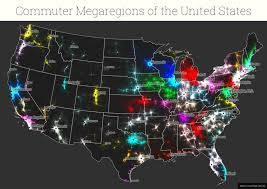 Commute Map Five Maps That Reveal New Truths About America U0027s Megaregions