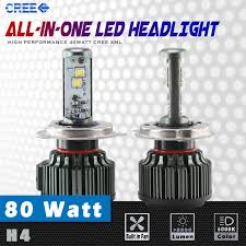 Led Light Bulbs For Headlights by Cree Xm L2 6000k High Power Led Headlight Bulb 8000 Lumen 80w