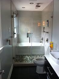 Small Bathroom Ideas With Tub Illustration Of Efficient Bathroom Space Saving With Narrow