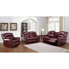 furniture gorgeous burgundy leather sofa for living room idea