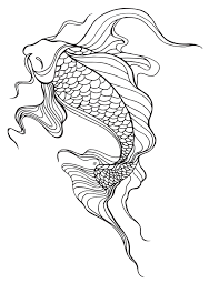 koi fish coloring page lostbumblebee 2015 mdbn grown up colouring